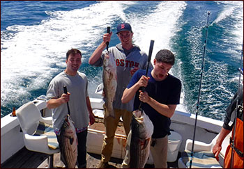 Charter fishing on Cape Cod Bay with the Stunmai II